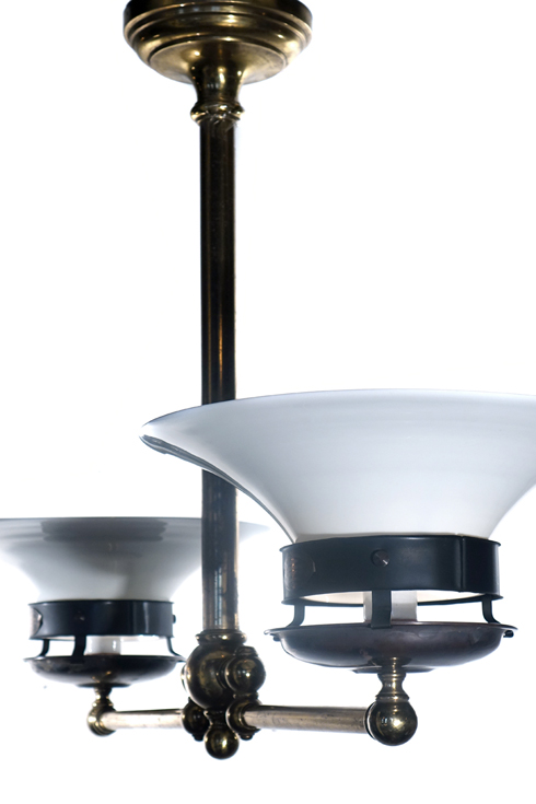 Large Electrified Double Articulated Gas Lamp