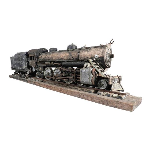 Large Handmade Railroad Automaton