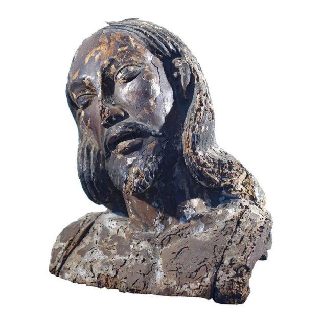 1700s Religious Figure with Heavy Patina