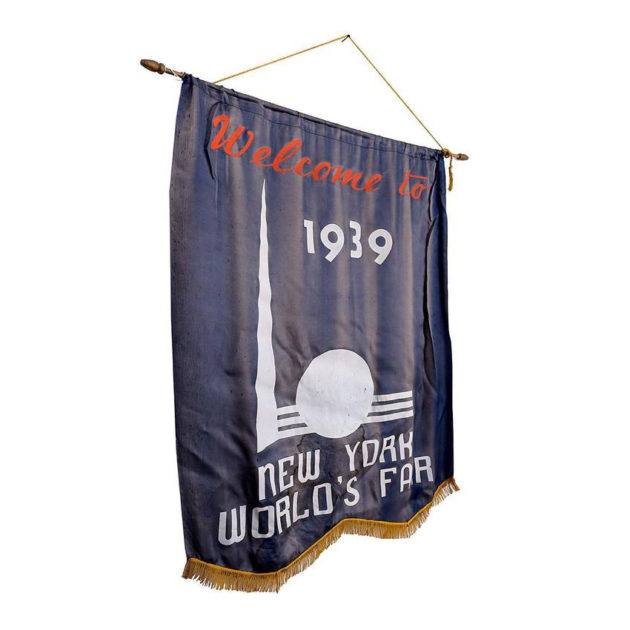 1939 New York World's Fair Welcome Banner