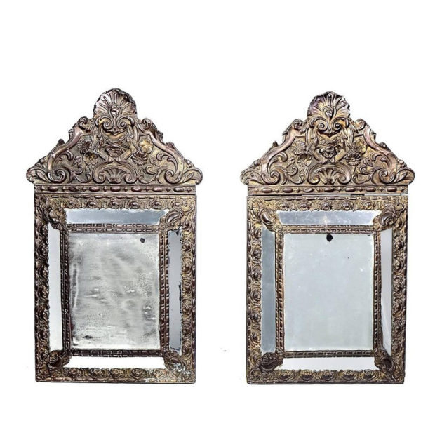 Antique 1880s Decorative French Mirrors|Matching Pair