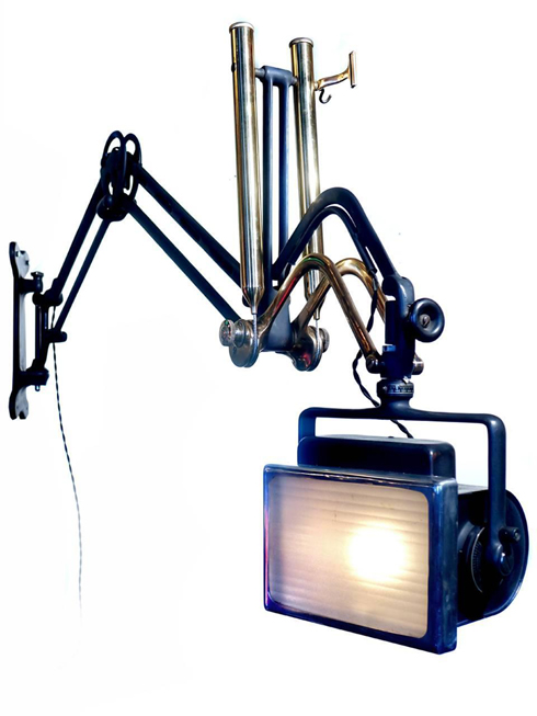 Early and Rare Articulating X-Ray Arm Dental Lamp