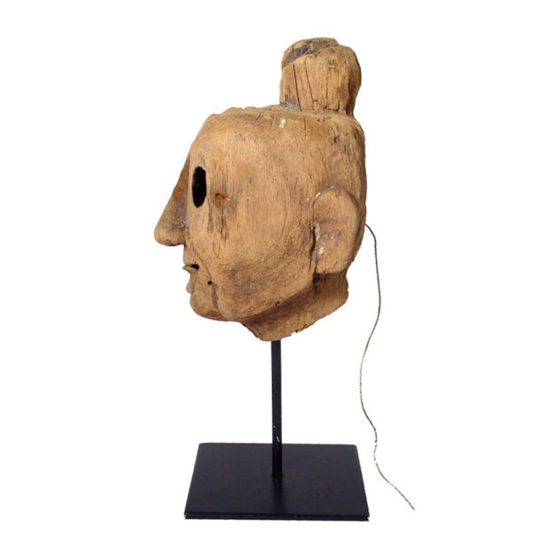Ancient Wooden Puppet Articulated Head