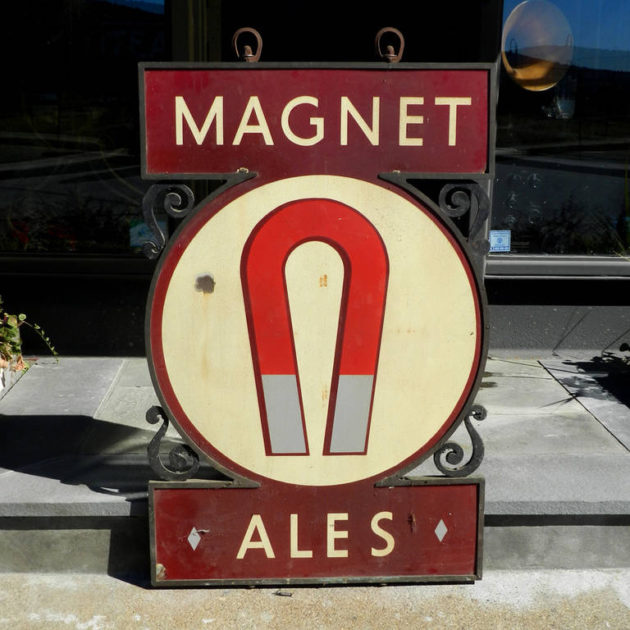 Large Porcelain Double-Sided Magnet Ale Pub Sign