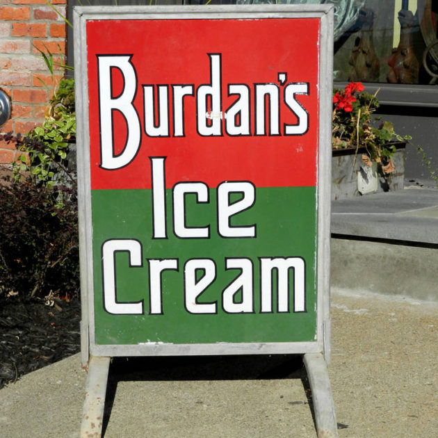 Floor Standing Porcelain Ice Cream Sign