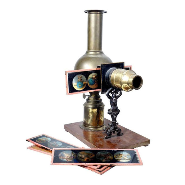Rare German Ernst Plank Magic Lantern