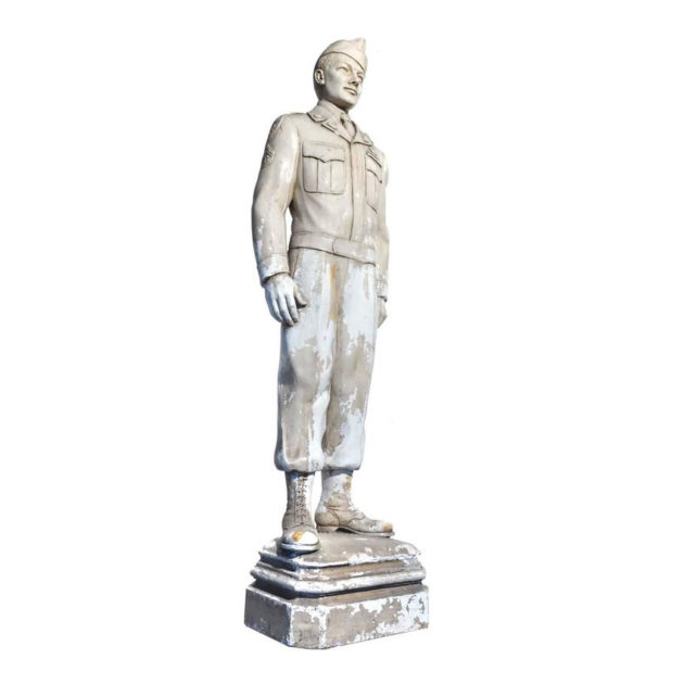 Original Plaster Artists Model for Larger Bronze Statue