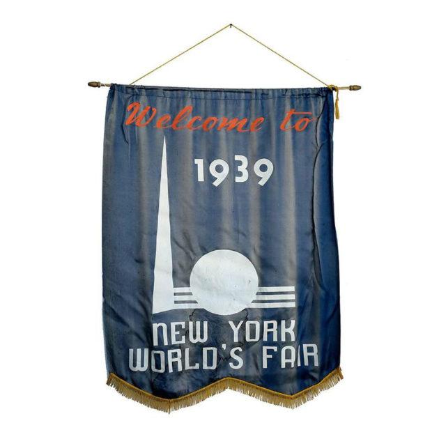 1939 New York World's Fair Welcome Banner