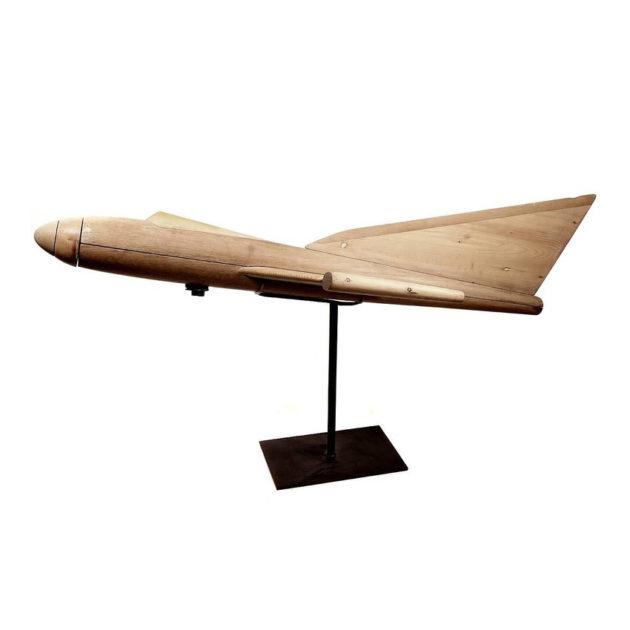 Large Wooden Cutaway Teaching Model of Jet Plane