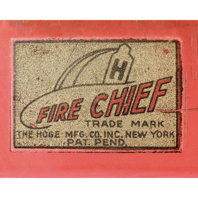 HOGE Pressed Steel Fire Chief Car