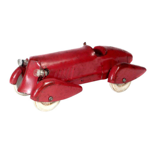 1930s Pressed Steel Streamlined Racing Car