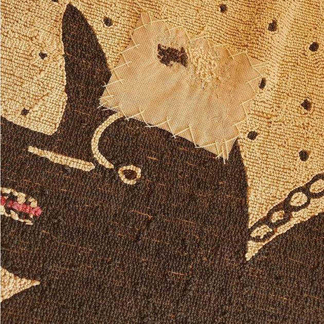 Bad Dog Folk Art Hooked Rug