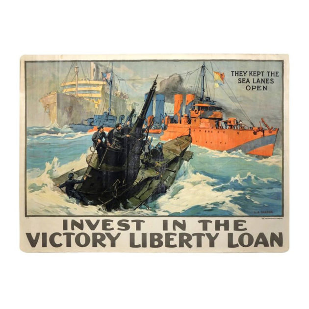 They Kept the Sea Lanes Open|Original 1918 WWI Poster