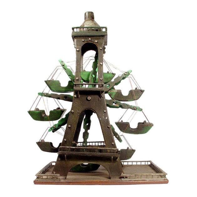 Folk Art Eiffel Tower Ferris Wheel