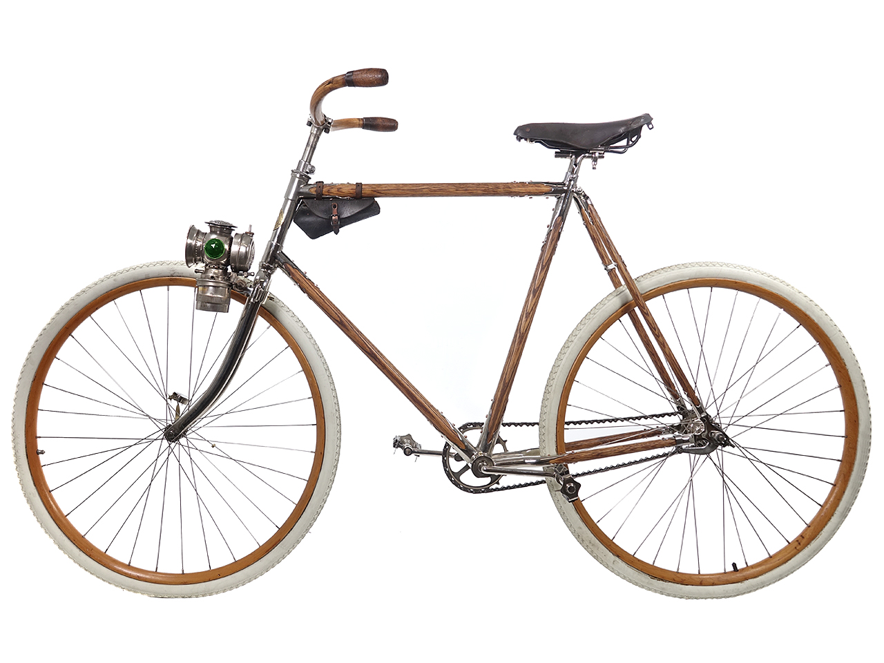 1890s Chilion Men's Wooden Frame Bicycle by M.D. Stebbins Mfg. Co.