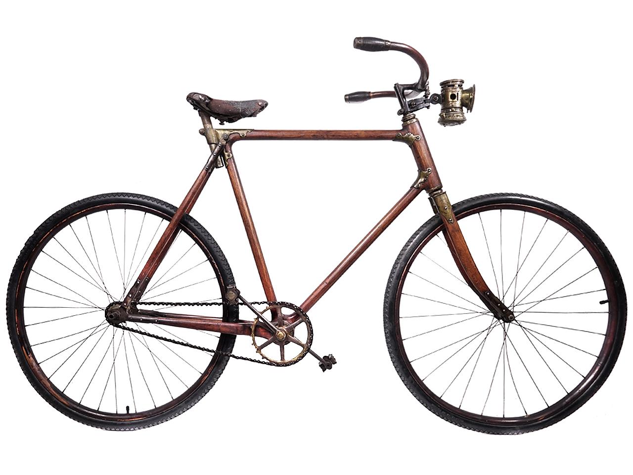 """The Ligna"" Original Wood Bicycle, 1890s Surviver"